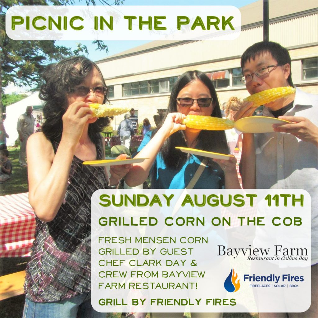 Memorial Centre Farmers Market Picnic in the Park Corn Roast